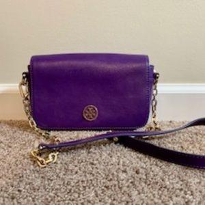 Used Tory Burch Purple Robinson Crossbody